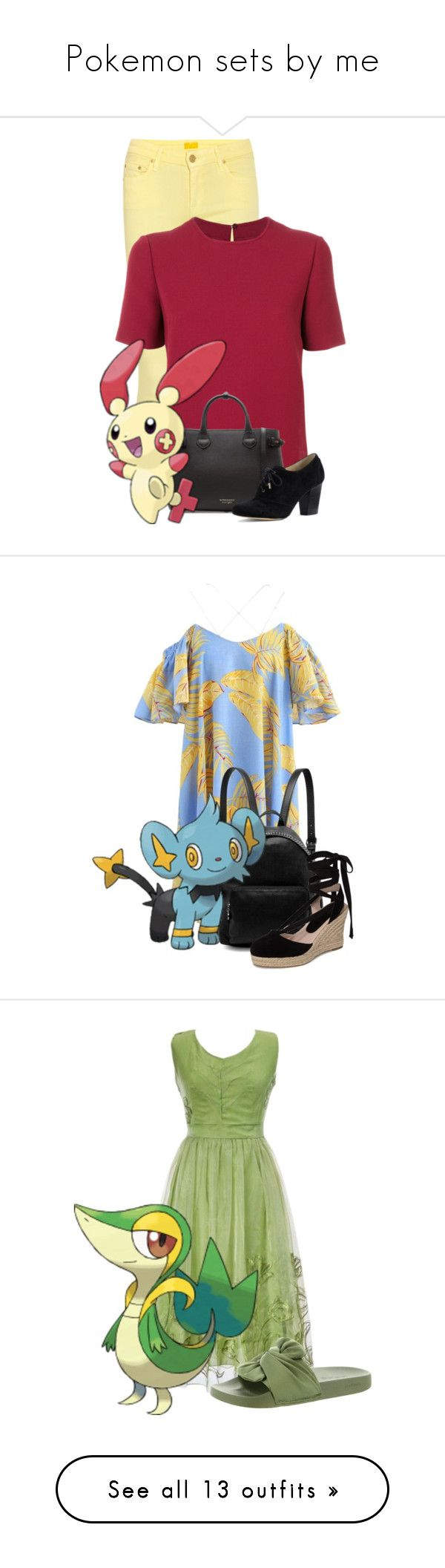 """""""Pokemon sets by me"""" by iristaha ❤ liked on Polyvore featuring Valentino, Burberry, Lands' End, Chicwish, STELLA McCARTNEY, Topshop, Bebe, Rebecca Minkoff, PrimaDonna and Chanel"""