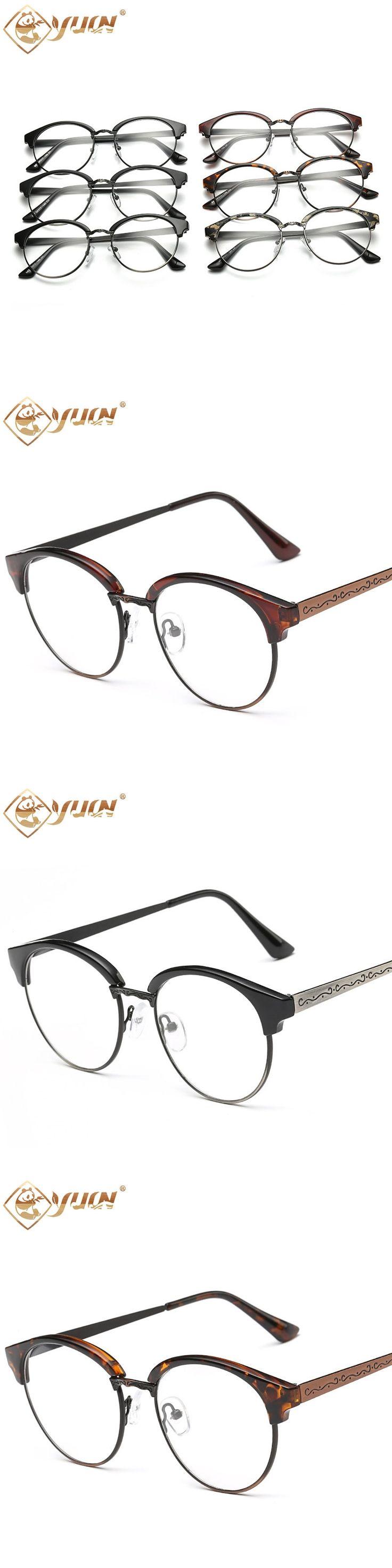 YUW vintage glasses round prescription eyeglass frames optical men women oculos clear glasses 847