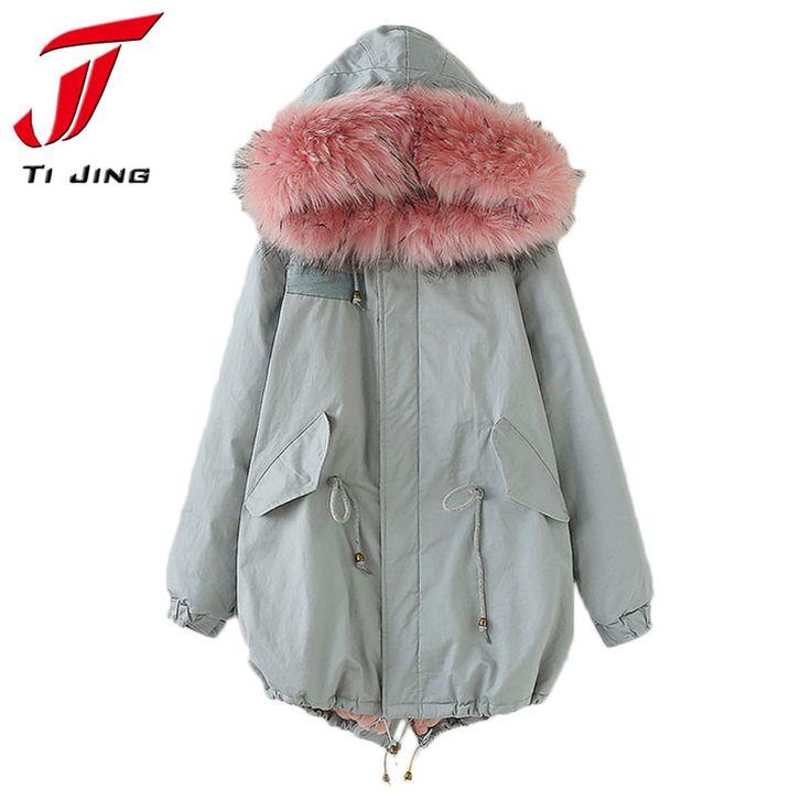 2017 Fur Winter Jacket Women Parka Jackets Fur Collar Female Winter Coat Women Parka Pink Fur B5563 Jetzt bestellen unter: https://mode.ladendirekt.de/damen/bekleidung/jacken/winterjacken/?uid=52d2a9bb-8ebd-59c3-91af-0a3f476f5784&utm_source=pinterest&utm_medium=pin&utm_campaign=boards #winterjacken #bekleidung #jacken
