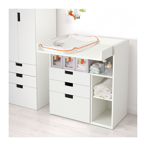Something similar for photo station    STUVA Changing table with 3 drawers - white - IKEA