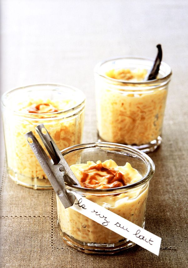 rice pudding + salted caramel