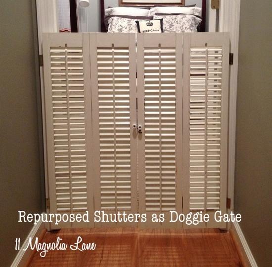 17 best images about dog gate ideas on pinterest for Should plantation shutters match trim