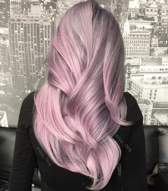 Haare pastell violett