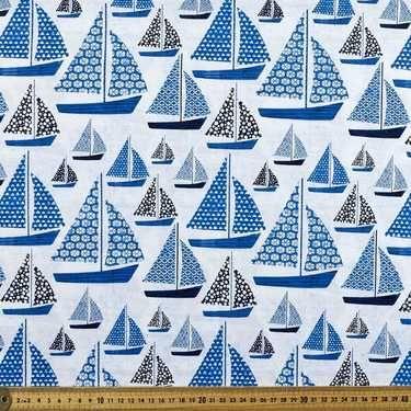 Deep Sea Blues Sailing Blue 112 cm