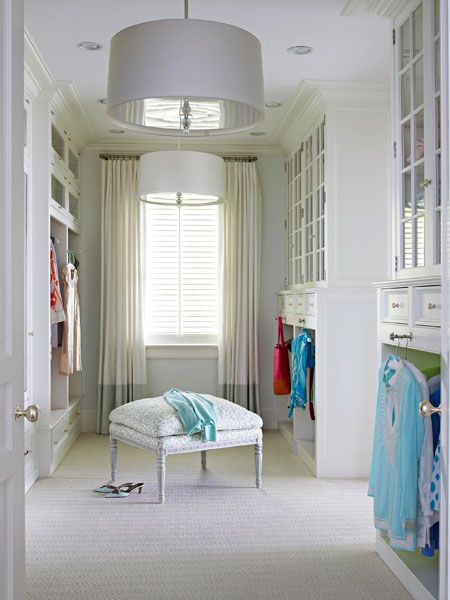 Light And Airy Dressing Room Pendantlight Closet
