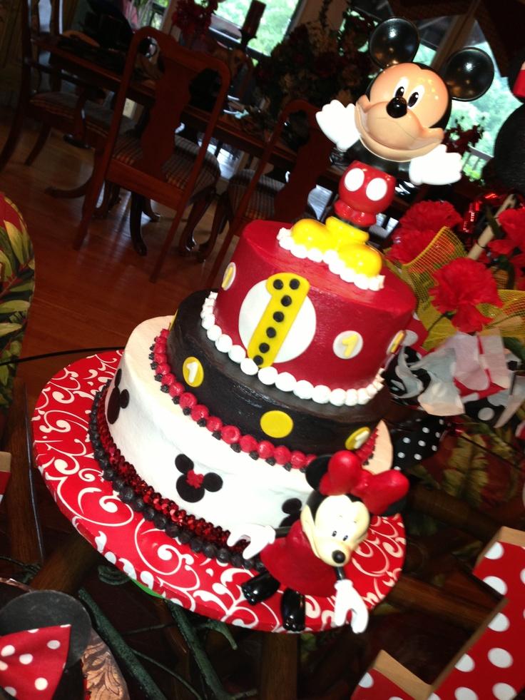 ... Mickey Minnie Parties, Mickey Birthday, Birthday Ideas, Birthday Cakes