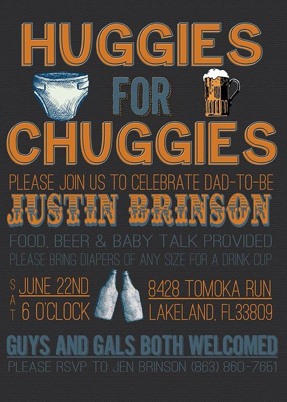 Huggies for Chuggies Diaper Party Invitation by ChevronDreams, $9.00