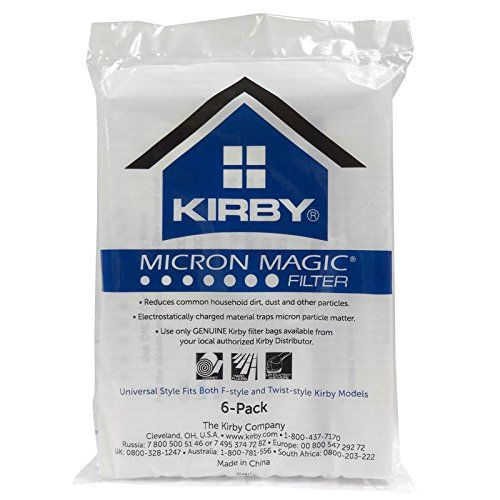 Kirby Sentria 2 Bags. Kirby Part#204808 / 204811 - Genuine Kirby Style F HEPA Filtration Vacuum Bags for Sentria Models - 6/Package, Sentria®, for units built on 2009 and later.  #kirby #sentria #2 #bags #kirbysentria #sentria2 #2bags