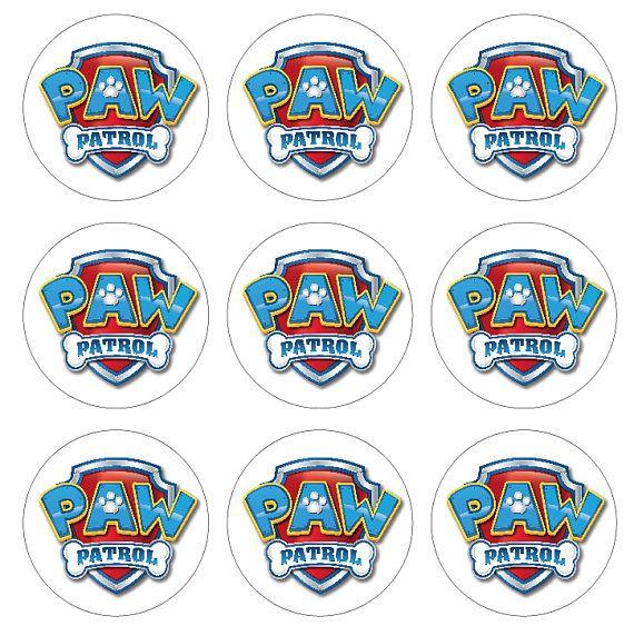 Paw Patrol Logo Sticker Decal Wall Decal Birthday Party Paw Patrol Paw Patrol Birthday Paw