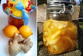 2 větší citrony (nejlépe Bio) 1 kořen zázvoru, cca 10 cm dlouhý med