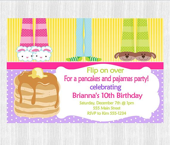 31 best pankcakes and PJs images – Pancake Party Invitations