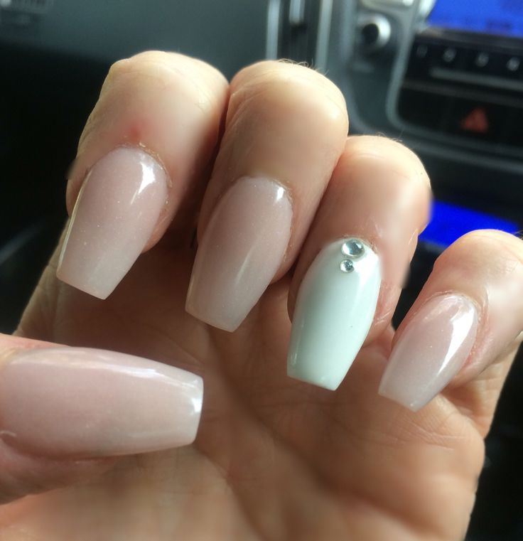His Princess ballet nails - Love the shape and length, coffin/ballet shaped soft pink and stark white. Being spoiled by the love of my life!
