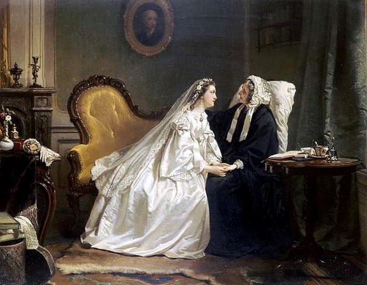 Hendrik Jacobus Scholten (1824-1907) — Some Good Advice (800x621) | Genre — Wedding | Painting ...
