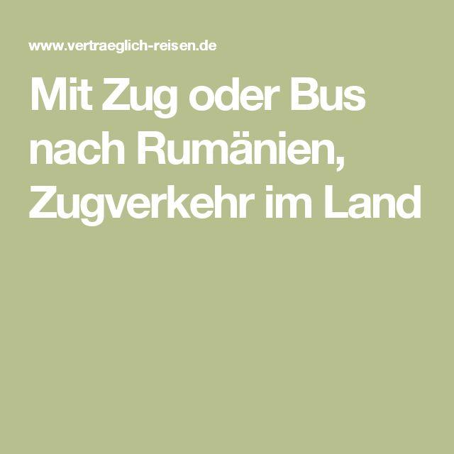 Mit Zug oder Bus nach Rumänien, Zugverkehr im Land