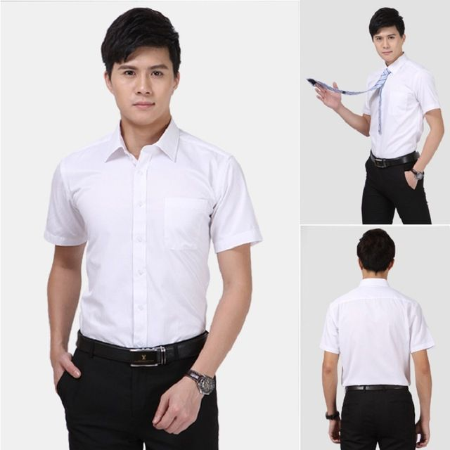 We love it and we know you also love it as well men's short sleeve dress shirts summer shirt tops 3 colours for wedding just only $11.64 with free shipping worldwide  #shirtsformen Plese click on picture to see our special price for you