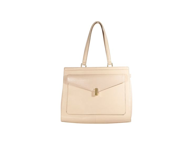 Nude Reiss Structured Leather Tote Bag