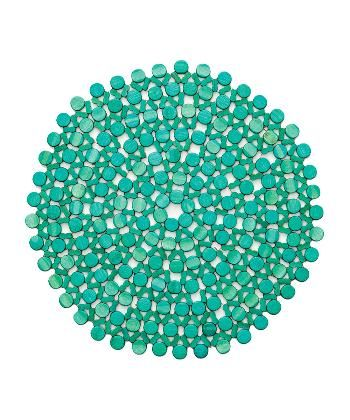 Turquoise Round Bamboo Placemat - KITCHEN AND DINING - Placemats & Table Cloths