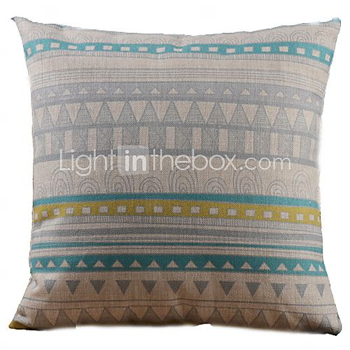 Cotton/Linen Pillow Cover , Geometric Country - EUR €13.71