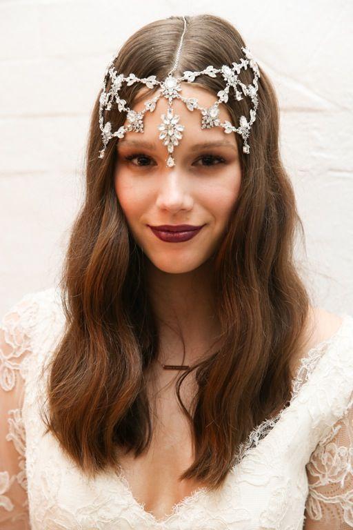 Bridal headpiece by Samantha Wills