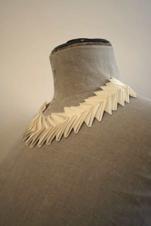 pleated paper necklace - Google Search