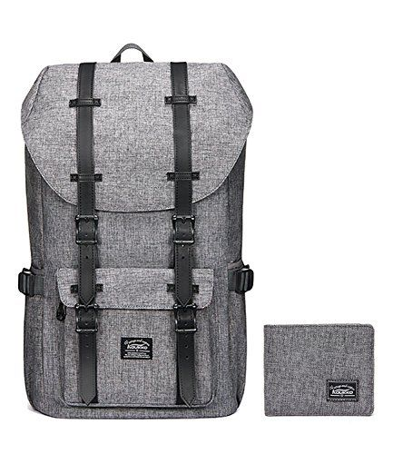 """Laptop Outdoor Backpack, Travel Hiking& Camping Rucksack Pack, Casual Large College School Daypack, Shoulder Book Bags Back Fits 15"""" Laptop & Tablets by Kaukko (1linen Grey[2PC]) #Laptop #Outdoor #Backpack, #Travel #Hiking& #Camping #Rucksack #Pack, #Casual #Large #College #School #Daypack, #Shoulder #Book #Bags #Back #Fits #Tablets #Kaukko #(linen #Grey[PC])"""