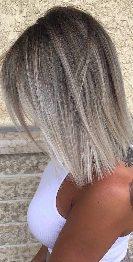 10 Medium Hair Color Sky - Beige - Brown - Blonde & Gray Blends, #beige #blends #blonde #brown #color #medium