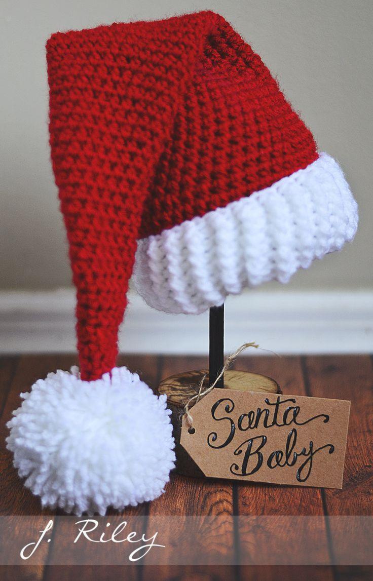 Santa baby crochet hat Inspirational image