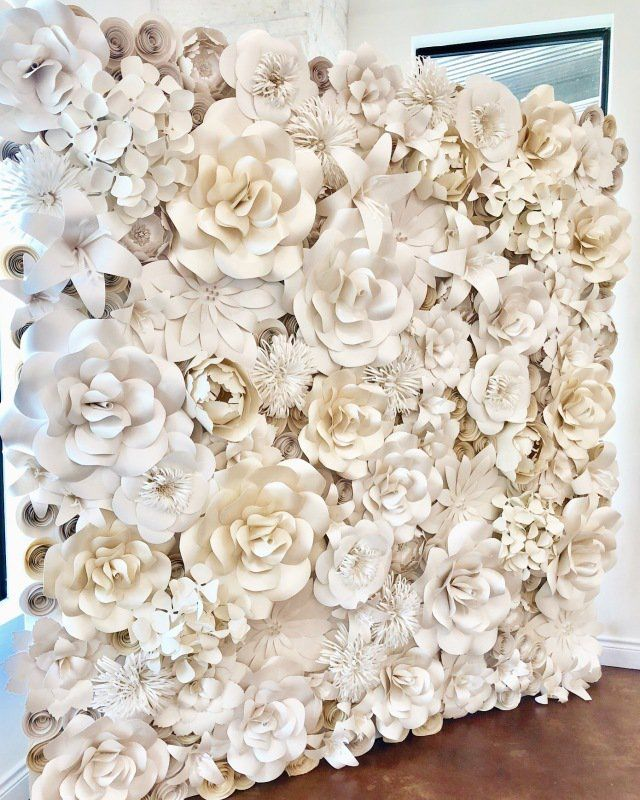 Paper Flower Wall Rental Paper Flower Wall Rentals And Paper