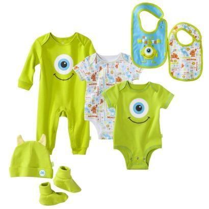Disney Newborn Boy's Monsters Inc. Green Collection