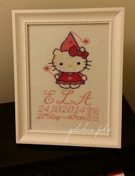 Hello Kitty Etamin Doğum Panosu