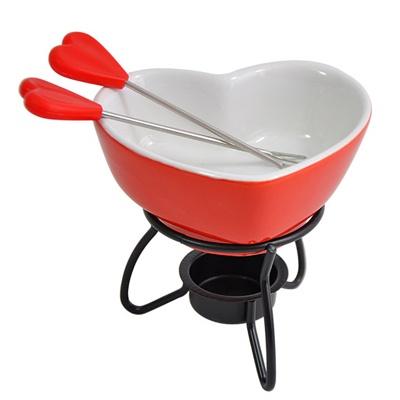 Aparelho de fondue 4 peças Coração - R$54.90