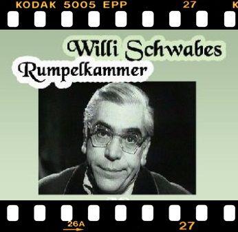"""DDR Filmarchiv - Die """"Rumpelkammer"""" war vor allem beim älteren Publikum sehr beliebt. Willi Schwabe präsentierte fast ausschließlich alte Film-Ausschnitte der Jahre 1933 bis 1945 und erzählte amüsante oder denkwürdige Anekdoten über bestimmte Ereignisse, Schauspieler und Regisseure."""