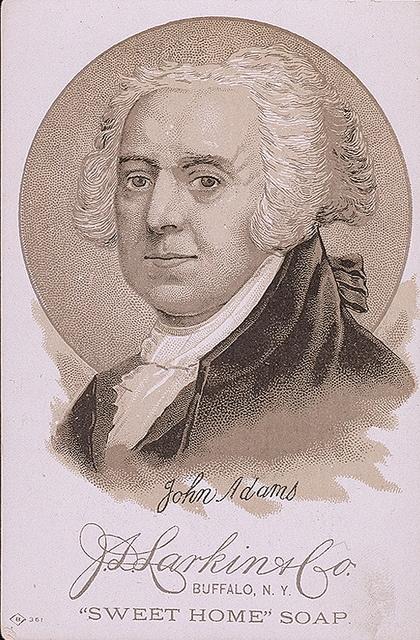 "President John Adams. Advertisement for ""Sweet Home"" soap. #talkbackhistory"