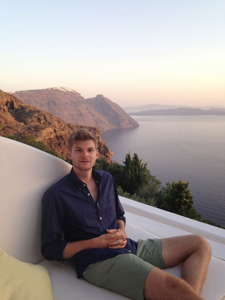 """Mr. JIM CHAPMAN in Santorini {Sept. 2014 [In Greece, 2 out of 3 citizens don't report all their income to the government. They know their tax money is being wasted (or worse, used to damage them), so they don't want to pay """"their share."""" -(-Maureen Martin, Oct. 11, 2015)]}"""