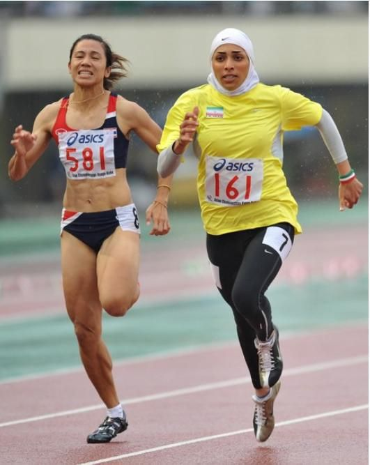 Maryam Tousi is an Iranian Sprinter. She won a Gold Medal in 2012 Asian Indoor Games.