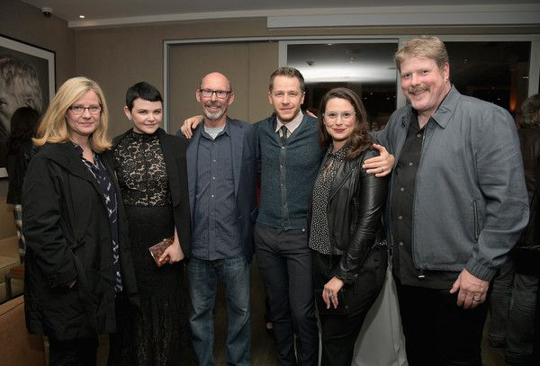 (L-R) Actors Bonnie Hunt, Ginnifer Goodwin, Don Lake, Josh Dallas, Katie Lowes and John DiMaggio attend a reception to honor ZOOTOPIA screenwriters Jared Bush and Phil Johnston at Cavatina at Sunset Marquis Hotel on January 5, 2017 in West Hollywood, California.