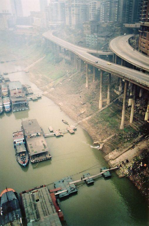 Yangzi River in de city of Chongqing_ Central China
