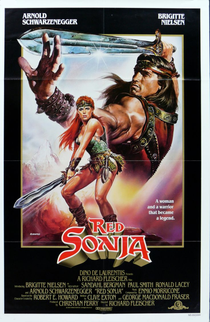 Red Sonja film poster, 1985