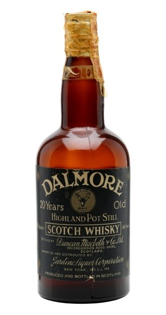 Dalmore 20 yo Highland Pot Still Scotch whisky bottled in 30's by Duncan Macbeth & Co for the american market.