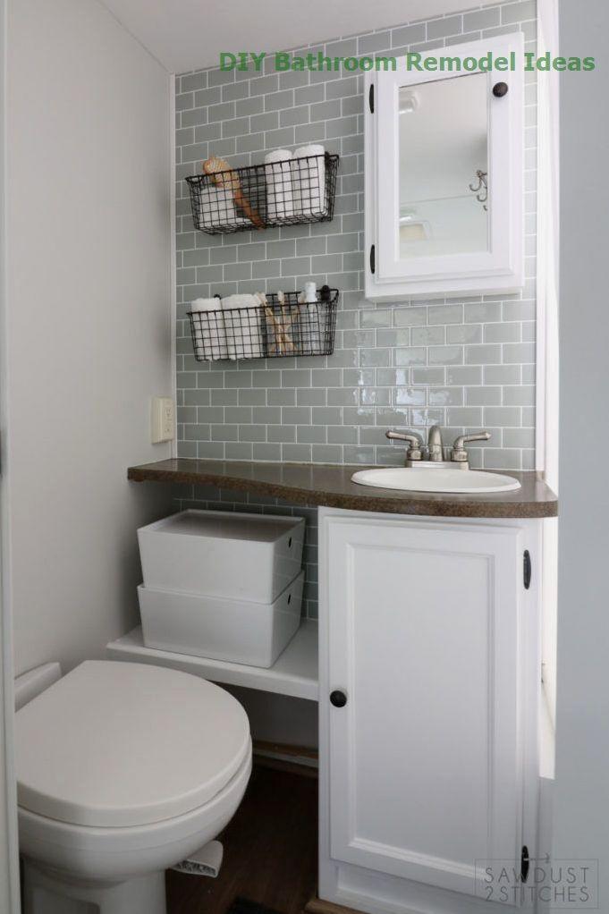 15 Incredible Diy Ideas For Bathroom Makeover15 Incredible Diy Ideas For Bathroom Makeover Bathroom In 2020 Bathroom Renovation Diy Bathrooms Remodel Bathroom Design