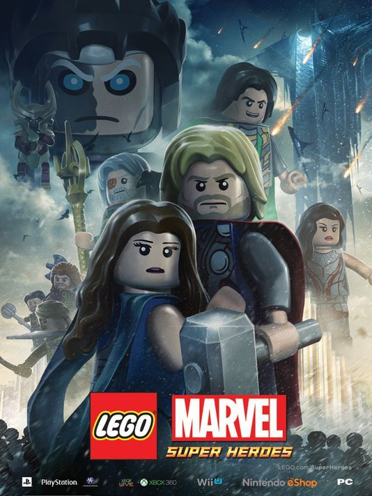 We only have one more month until Marvel's Thor: The Dark World thunders into theaters! The studio has released this LEGO style poster for the film that also promotes the LEGO Marvel Super Heroes game that will be released on October 22nd. The movie itself is set to be released in theaters on November 8th!