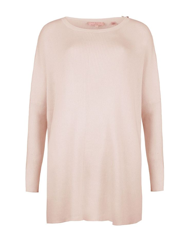 Ted Baker - Pink Maggiee Ribbed Poncho