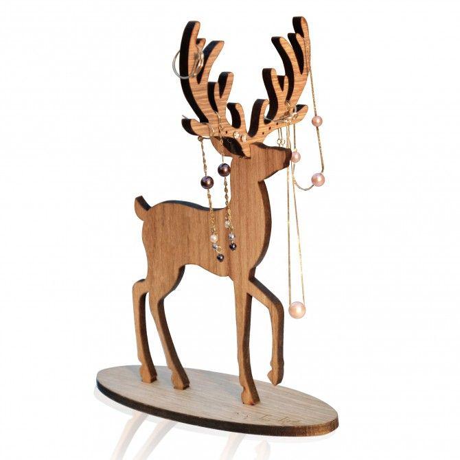 We Love Home - Porte-bijoux Deer en bois chez Utile & Futile