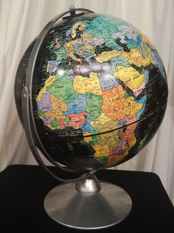 The 25 best world globe map ideas on pinterest globes paint vintage black world globe map of the world planetary globe vintage world map globe replogle starlight gumiabroncs Images
