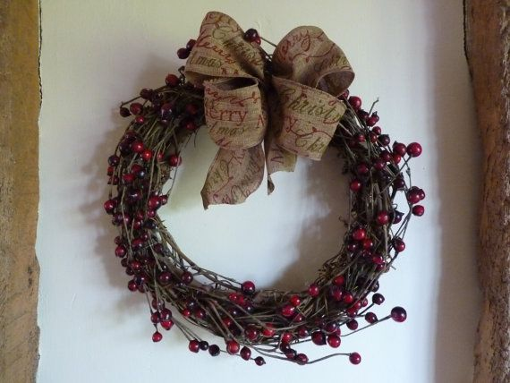 Berry wreath  vine wreath  Christmas wreath  by DuckBarnFlorals