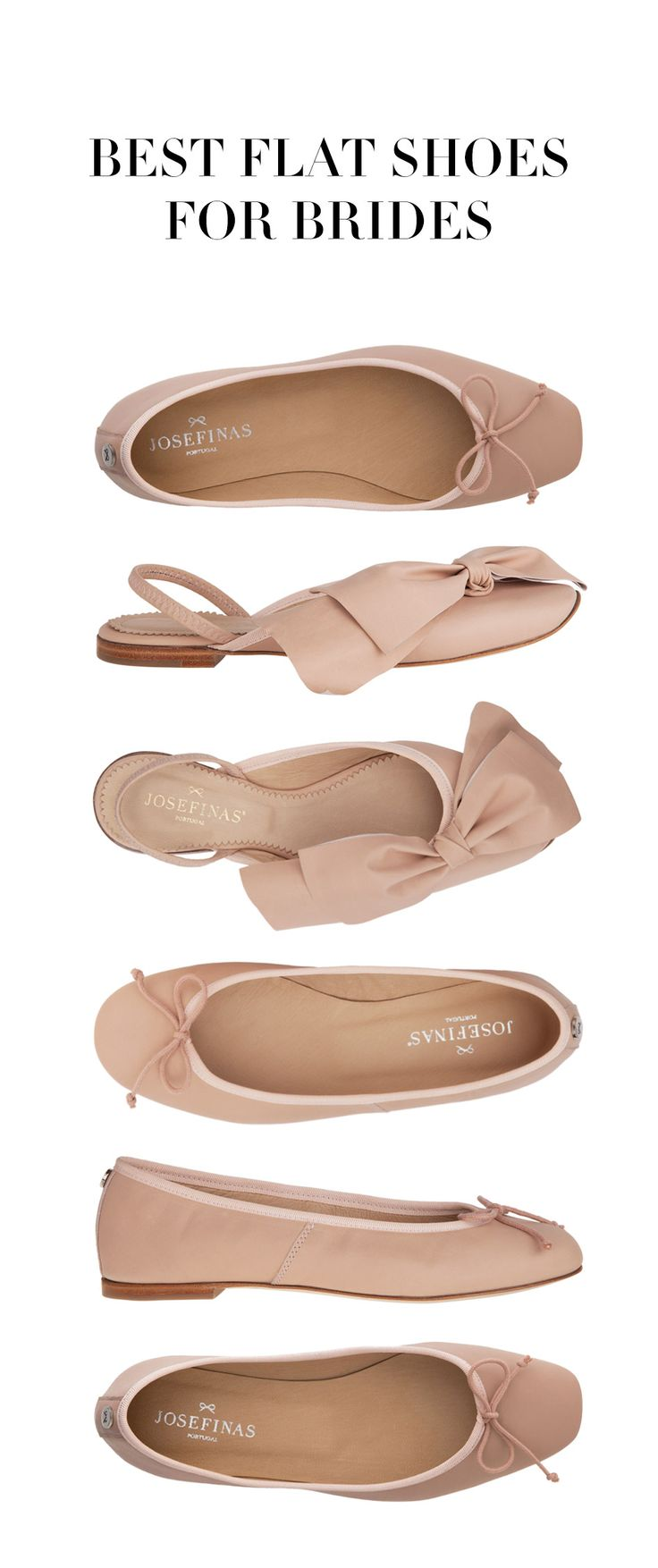 You don't need high heels to feel pretty on your wedding day ✨  Be the perfect bride with Josefinas' ballet flats! www.josefinas.com/bride.  #weddings #weddingdress #weddinginspiration #balletflats #bride #shoes #bridal