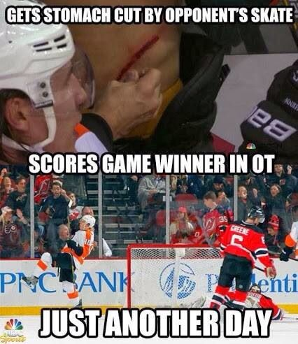 Nothing's tougher than a hockey player!!