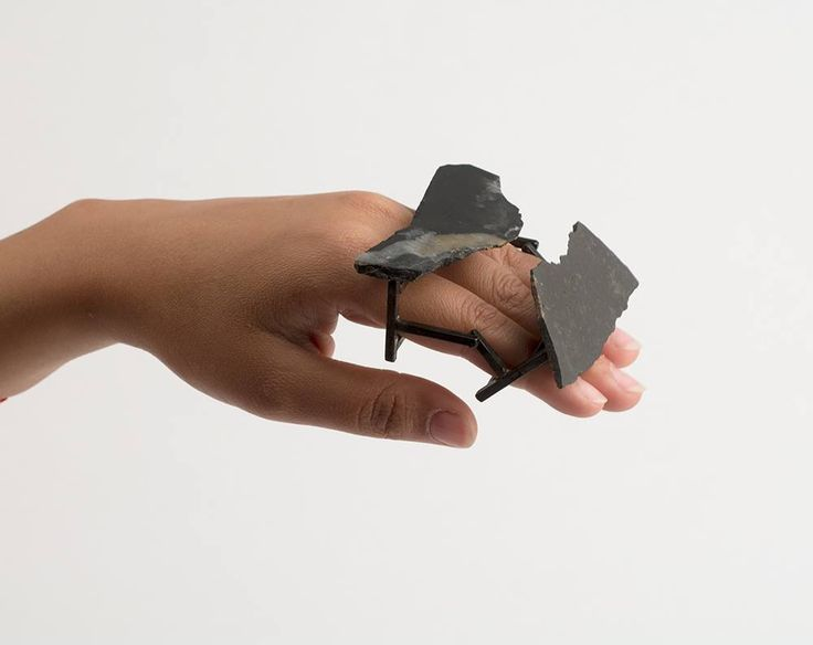 "Aiza Mahmood (M.F.A. 2015) • Ring ""Ring 3"" • Iron and slate • 2015 • © phot. by artist"