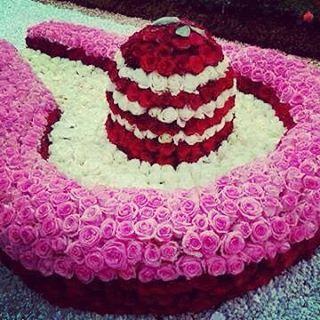 Shiva Linga Made From Flowers
