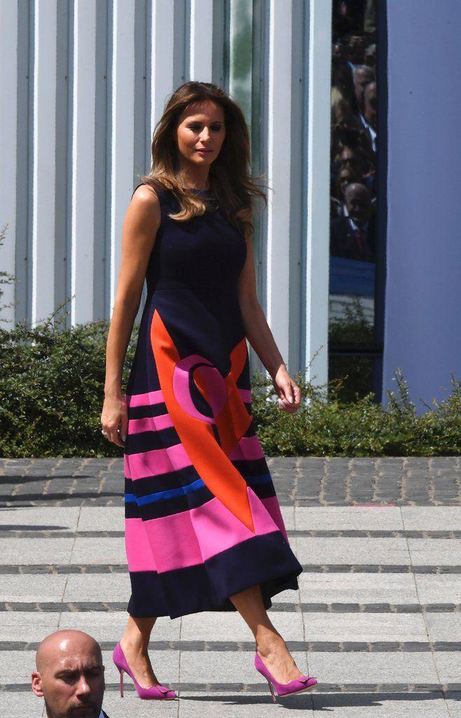 Melania S Purple Manolo Blahnik Heels Manolo Blahnik Heels Fashion Trump Fashion